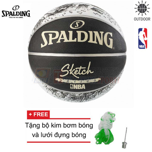 Bóng rổ Spalding NBA Sketch Outdoor size7