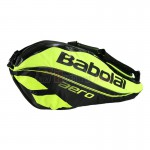 Bao vợt Tennis Babolat Racket Holder X6 Pure Aero Black Yellow (2 ngăn) - 751116