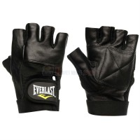 Găng tay tập gym cao cấp (chất liệu da) Everlast Leather Fitness (Size M)